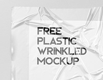 Free! Plastic Wrinkled Reflections Mockup