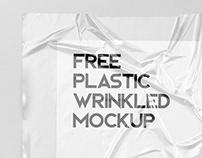Free! Plastic Wrinkled Reflections Mockup