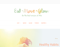 Eat move glow WEB design