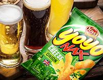 Yoyo fun snacks, packaging design