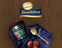 Nestlé Temptations Packaging and Print Design