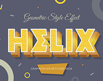 10 Geometric Style Text Effects - PSD