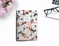 Flowers pattern notebooks.