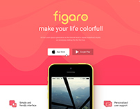 Figaro - App Landing Page Template