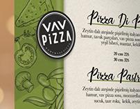VAV Pizza menü