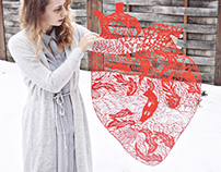 Giant anatomical heart paper cut
