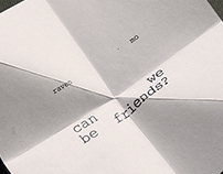 Artist Book : Can We Be Friends?