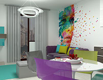 Colorful open space
