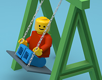 Lego On Swing - Letter A