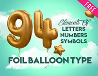 3d Alphabet Foil Balloon in PSD