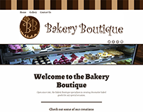 Bakery Boutique Website Design