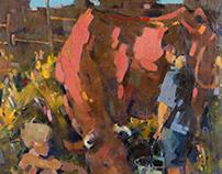 In the village. 2014. oil on canvas. 75х75cm.