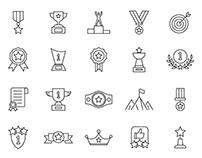 20 Achievement Vector Icons