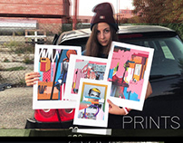 A series of new prints in a minute video