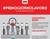 "Adecco ""First day on the job"" infographic"
