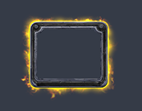 Glowing frame. Custom VFX for card game