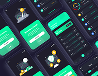 Bitcoin Cryptocurrency Mobile App UI Template