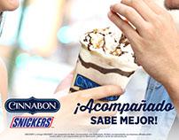 Cinnabon: campaña Snickers 2017
