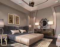golden bedroom simple design