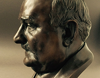 Lech Walesa - man of bronze