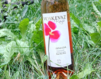 Voskevaz Rose wine label