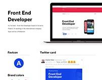 iamarek.com Portfolio Front End Developer
