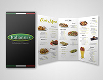 ITALIANNI'S tri-fold menu brochure layout