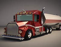 Low Poly Tank Truck