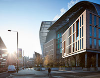 Architectural photography of Crick Institute London