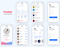 Mobile_App_Challenge ( Freebie // 7 screens per week )