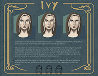 IVY - Planche personnage