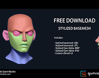 FREE Stylised Basemesh