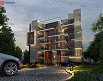Residential building exterior design @ con-creative