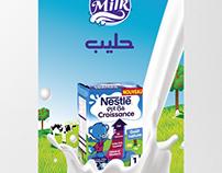 Affiche jus et lait