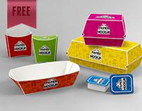 FREE Paper Takeout Boxes Mockup