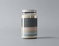 Glass Jar with Label Mockup