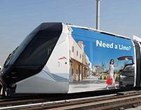 Tesla Limo-RTA-Dubai Taxi Campaign   Art Direction