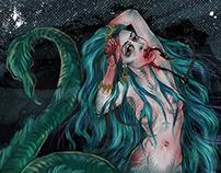 Mermaid, turquoise, anguish