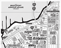 Bridgeport and Armour Square Map