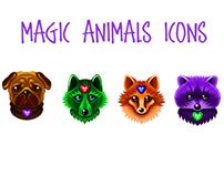 Magic animals icons