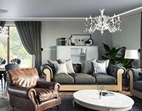 VIZprofistudio Apartments in a Classical Style, 3D CGI
