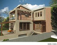 A bioclimatic house in Kastelokampos, Patras, Greece.