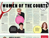 Women of the Courts cover feature