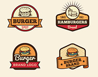 Vintage food & drink logo collections