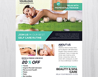 Massage and Health - Free PSD Flyer Template