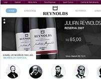 Hotsite: vinícola Glória Reynolds