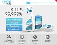 ContraBac - rediseño web, isologo y etiquetas
