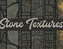 Hand-painted Stone textures – Tileable