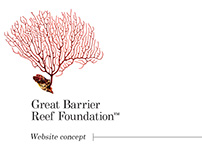 Great Barrier Reef Foundation - Website Concept