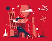 SPEEDY / Express / Post / Logistic / Wine